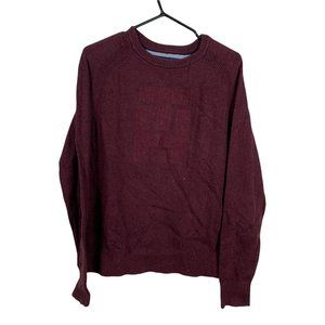 Tommy Hilfiger Sweater Mens Size M Burgundy Red Knit Classic Fit